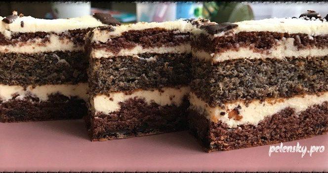 """Торт-пляцок """"Сонячна насолода"""" з ніжним кремом на основі білого шоколаду."""