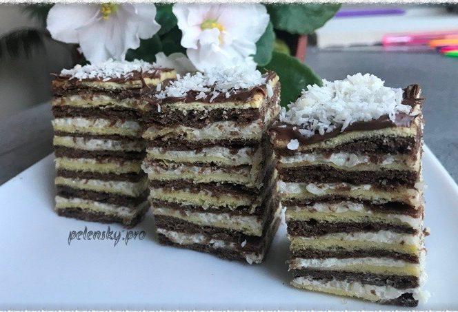 """Торт-пляцок """"Біла ніч"""" поєднання краси та смаку."""