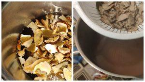Грибна юшка з білих грибів