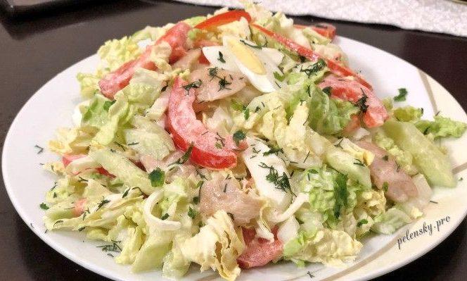 """Салат з пекінською капустою """"Коліжанка"""". Один з найкращих салатів."""