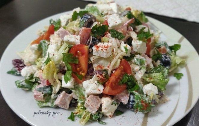 """Оригінальний салат з фетою """"Романтика""""."""