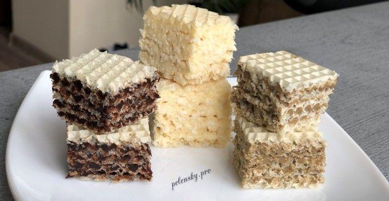 Чотири креми для вафельного торта, рецепт андрутів.
