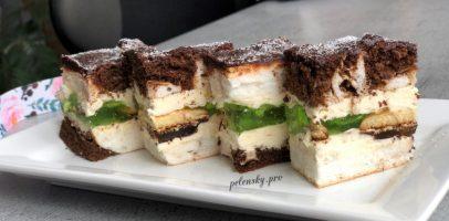 """Торт-пляцок """"Очі цариці"""" з желе, красивий та смачний."""