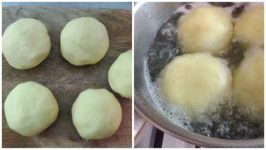 Картопляні галушки з м'ясом