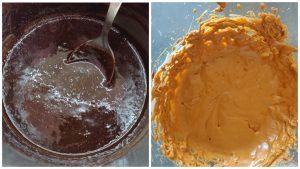 Рулет з шоколадним та масляним кремом