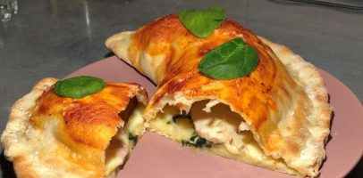 "Піца-чебурек ""Кальцоне"", рецепт унікальної піци."