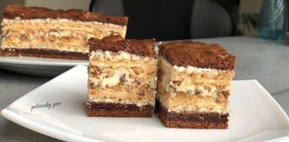 """Пляцок """"Лебедине озеро"""", рецепт вафельно-шоколадного торта."""