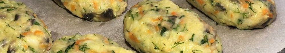 Картопляні биточки в духовці з грибами. Рецепт швидкої вечері.