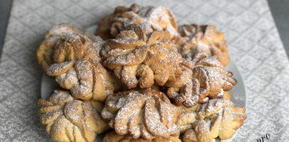 """Печиво """"Хризантеми"""" через м'ясорубку: покроковий фото рецепт."""