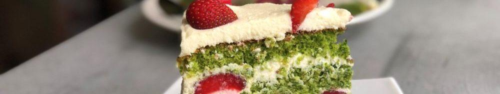 """Торт з зеленими коржами """"Лісовий мох""""."""
