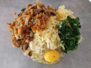 Запечена картопля з грибами