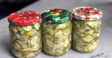 """Салат з огірків на зиму """"Ніжинський"""". Рецепт салату з огірків і цибулі."""