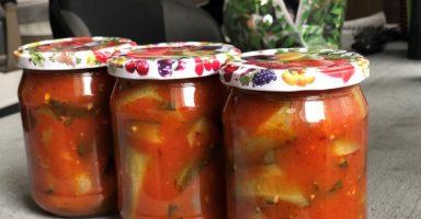 Огірки з кетчупом на зиму. Салат-закуска із оригінальним смаком.