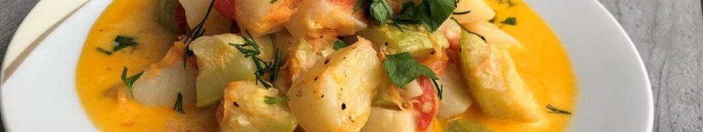 Рагу з кабачків, помідорів і картоплі. Рецепт вечері за 30 хвилин.