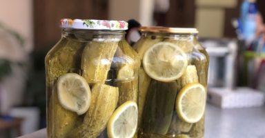 """Солодкі огірки на зиму з лимонною кислотою без оцту """"Празькі""""."""