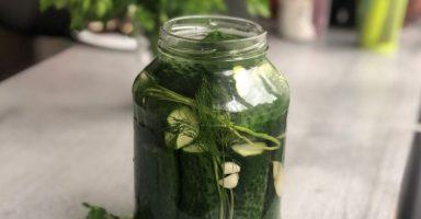 Малосольні огірки швидкого приготування в ароматному розсолі.