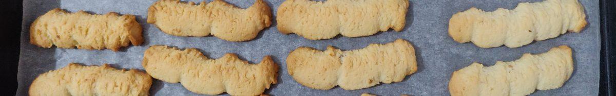 Печиво на смальці і сметані, зроблене через м'ясорубку.