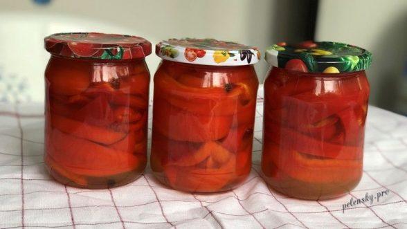 Маринований болгарський перець з медом на зиму.