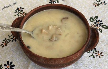 Підлива з білих грибів із сметаною. Густа, ароматна і дуже смачна.