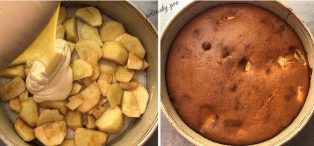Яблучний  бісквітний пиріг. Незрівнянний яблучний аромат.